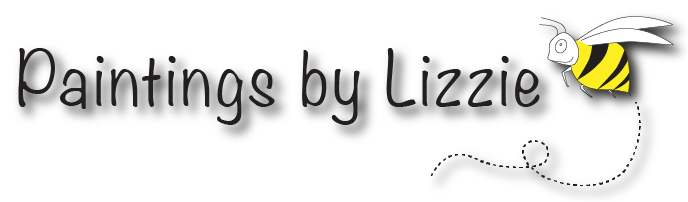 Logo for Paintings by Lizzie with a link back to the home page.