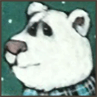 Painting by Lizzie magnet of a white bear.